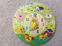 Fantastic kids toy! Wooden Animal Puzzle Clock *BRAND NEW UNOPENED**