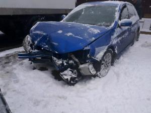 2008 impreza 2.5i front end accident