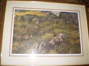 "Robert Bateman Signed Limited Edition Print - ""Short Eared Owl"" Kitchener / Waterloo Kitchener Area image 1"