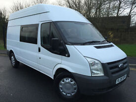 2009 09 FORD TRANSIT 350 2.4 (100) LONG WHEEL BASE HIGH ROOF 9 SEAT CREW VAN