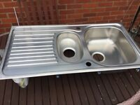 Kitchen sink , NEW Bianco stainless steel 1 1/2 bowl