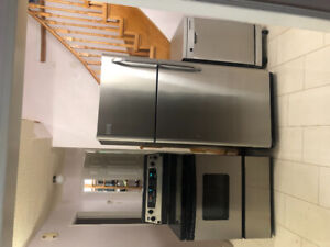 Stainless steel fridge stove and dishwasher for sale
