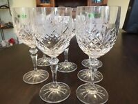 Galway Crystal Wine Glasses (Set of 8)