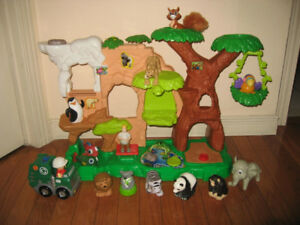 Fisher Price Little People 2 Story House, Safari Zoo Play Sets