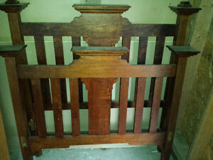 Silky Oak Antique 4 poster double bed frame