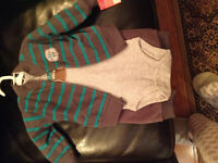 New Carters boys fleece outfit 6 months.