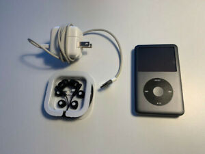 iPod Classic 160Gb 7th Generation Black w/ Charger and Ear Buds