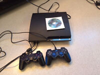 Playstation 3 slim 250go with 2 controllers -- 130$