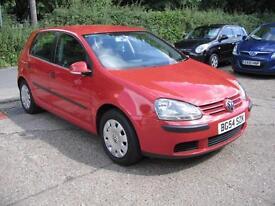 2004 Volkswagen Golf 1.4 FSI ( 90P ) S Red 5 Door 99,511 Miles SUPERB THROUGHOUT