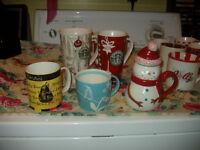 Vintage Starbucks Christmas Mugs..Up Dated