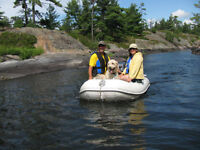 Inflatable Dingy 7.5 ft with 6 HP Yamaha Motor
