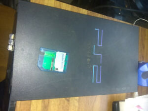 PS2 console with memory card
