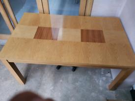 Oak dining table 90 cm x 150cm