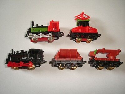 RAIN WAGONS SET 1996 1:160 N - KINDER SURPRISE MINIATURES (Bulk Kinder Spielzeug)