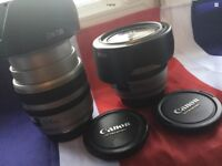 RARE SILVER BODIED CANON EF USM 24-85mm ULTRASONIC ZOOM LENS WITH HOOD