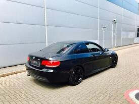 2008 08 reg BMW 325 3.0 M Sport Coupe + BLACK + RED LEATHER