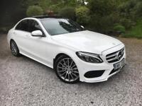 Mercedes-Benz C220 2.1CDI Premium Line BlueTec 7G-Tronic Plus 2015MY AMG White