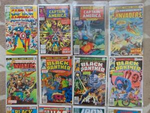 comic books -- Captain America/ Black Panther/Invaders/Iron Man