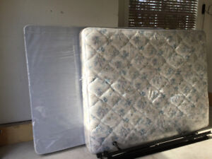 Queen Size Box Spring and steel frame.