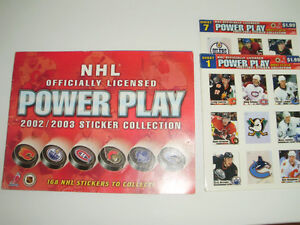 NHL Sticker Collection