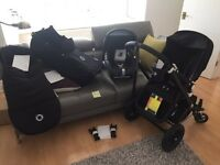 Bugaboo Cameleon all black frame & fabric complete with maxi cosy car seat and bugaboo adaptors