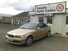 2001 51 BMW 3 SERIES 2.0 318CI SE 2D 141 BHP