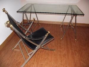 Antique Campaign Table & Chair