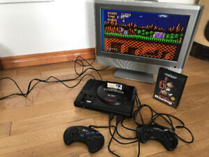 Sega Genesis with 2 Games and Turbo Controller