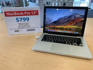 """MacBook Pro 13"""" for $799 with Warranty"""