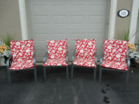 """"""" SET OF FOUR PATIO CHAIRS WITH CUSHIONS """""""