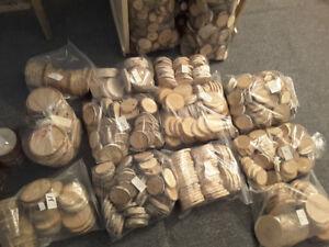 Lots de rondelles de bois