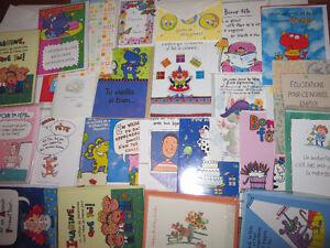 lot de cartes d'anniversaires