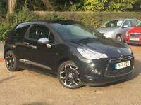 2011 Citroen DS3 1.6THP ( 150bhp ) DSport Plus Black only 35,015 Miles WARRANTED