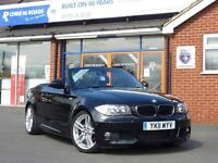 2011 11 BMW 1 SERIES 118D M SPORT CONVERTIBLE *UPGRADE ALLOYS LEATHER* DIESEL