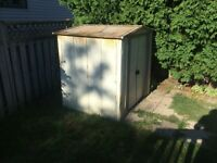 Free shed for scrap metal