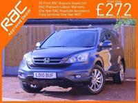 2010 Honda CR-V 2.0 i-VTEC EX Auto 4x4 4WD Pan Roof Sat Nav Rear Cam Bluetooth L
