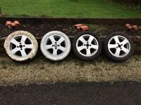 Alloy wheels and tyres 205/R16
