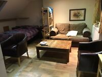 Double room with en suite, kitchenette and views