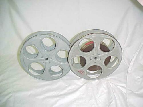 "2 vtg GOLBGERG Steel Reels 35MM 10"" One with Magnetic Tape 1000"