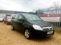 VAUXHALL ZAFIRA 1.6 PETROL BLACK EXCLUSIVE EXCELLENT CONDITION HPI CLEAR