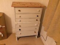 Solid Oak Reclaimed chest of draws