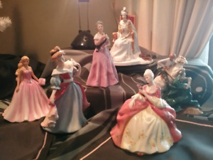 Group of Royal doulton figurines - see description for pricing