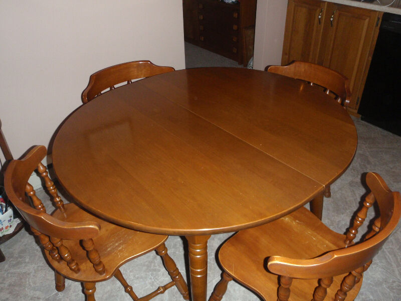 Solid wood Kitchen table and 4 chairs | Dining Tables ...