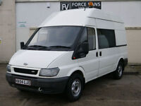 FORD TRANSIT 350 MINIBUS MWB MOBILE WORKSHOP SITE TOOL CREW DAY BAND WELFARE VAN