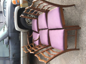 4 gorgeous Mahogany reupholstered dining chairs