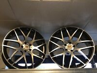 "20"" riviera alloy wheels Alloys Rims tyre Tyres 5x112 Mercedes Vw Volkswagen Seat concave LAST SET"