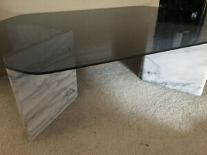 Glass/ Marble Coffee Table