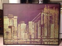 Picture frame on canvas