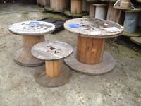 Wooden cable reels / picnic tables / Upcycling