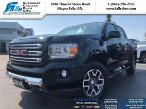 "2016 GMC Canyon SLE  NAV,V6,REMOTE START,REARCAM,17""ALLOYS,4X4"